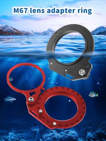 BGNING Arm Extension Mount Close-up Lens Mount lens adapter ring for 67mm interface waterproof case