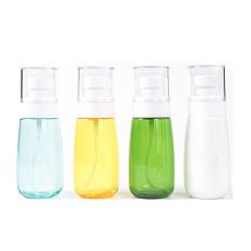 XT-XINTE 30ml/60ml/80ml/100ml Fine Mist Spray Bottles Transparent Empty Bottle for Travel Outdoor sports  Dispensing Alcohol Disinfectant.