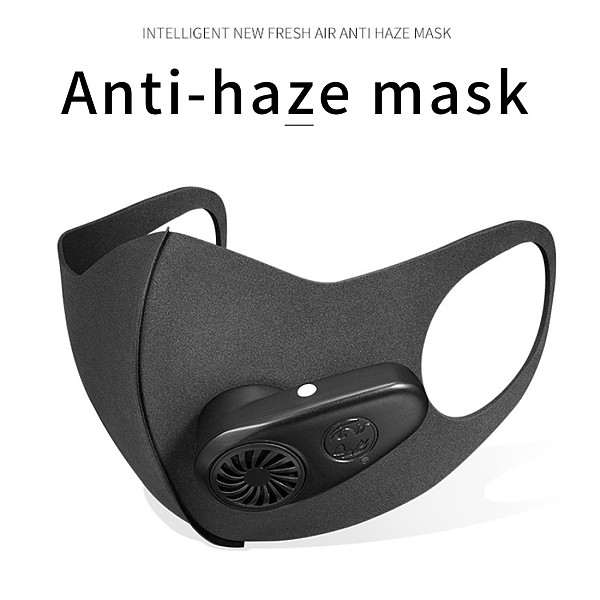 XT-XINTE Smart Electric Mask Air Purifying Pollution Breathing Valve  Anti-Dust Earloop Masks 5V 600MAH Anti-dust Virus Safe PM2.5 Protective Mask Workplace Security Supplies