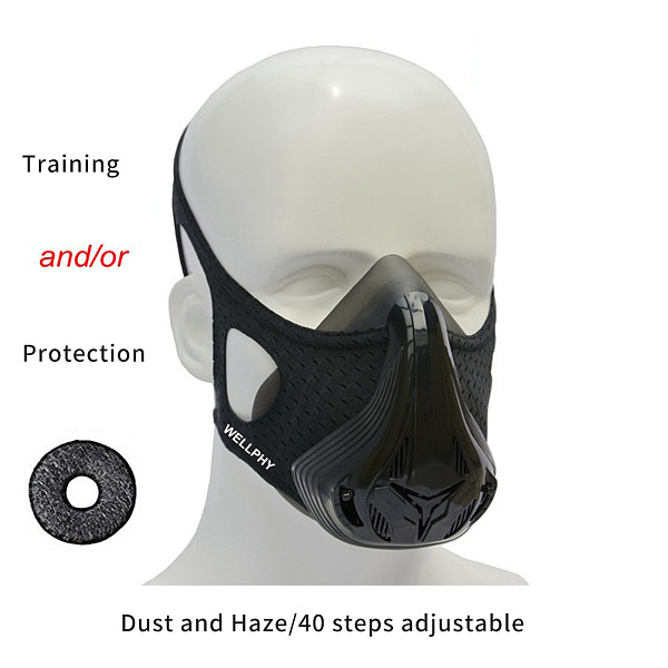 XT-XINTE 3in1 Filter Cotton Sports Mask Fitness Dustproof Anti-smog Oxygen Sports Mask Fitnes for Workout Running Resistance Elevation Cardio Aerobic Exercis