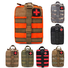 XT-XINTE Outdoor Tactical EMT Climbing Rescue Bag Military Medical Emergency IFAK Bag Camouflage First Aid Kit Molle Pouch Hunting Utility Accessory (25*15*10cm)