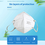 XT-XINTE 5PCS KN95 Face Mask 95% Filtration Disposable Mask Anti-virus Anti-fog Haze Dustproof for Exhaust Gas/Allergies/Pollen/PM2.5