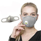 XT-XINTE Unisex Sponge Dustproof PM2.5 Pollution Half Face Mouth Mask With Breathing Valve Wide Straps Washable Reusable Muffle Respirator for Adult