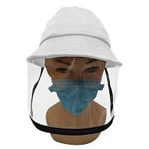 XT-XINTE Detachable Anti-saliva Face Cover Caps Protective Anti Spitting Splash Transmission Summer Sun Outdoor Corduroy Fisherman Hat for Kids Children