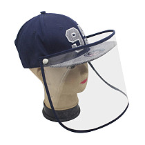 XT-XINTE Removable Anti-saliva Face Cover Caps Protective Head Baseball Hat Anti Spitting Splash Transmission Windproof Sand Mask for Kids & Adult