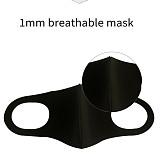 XT-XINTE Unisex Outdoor Anti-flu Soft Space Fiber Sponge Breathing Protective Face Masks Warm Anti-Dust Motorcycle Sport Masks Washable Black
