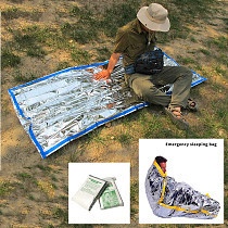 XT-XINTE 1M x 2M Outdoor Portable Waterproof Reusable Emergency Silver Survival Mylar Foil Camping Survival Reusue Thermal Sleeping Bag Outdoor Military Army Disaster Blanket