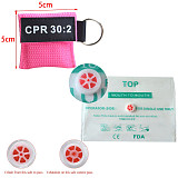 XT-XINTE CPR Resuscitator Mask Keychain Emergency Face Shield Disposable First Aid Skill Training Breathing Rescue Mask One-way Valve Tool for Health Care 8 Colors