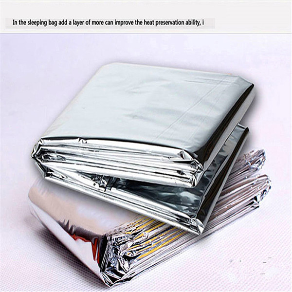 XT-XINTE Waterproof Disposable Emergency Survival Rescue Blanket Foil Thermal Space First Aid SOS Insulation Disaster Outdoor Military Rescue Curtain Hike