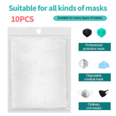 XT-XINTE 10 Pcs Disposable Masks Safety Seal Anti Dust Breathable Haze Mouth Face Replacement Mask Pad Comfortable Filter Protective Pads