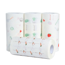 XT-XINTE Household 10 Rolls Paper Towels Kitchen Oil Absorption Bulk Bath Tissue Bathroom Enviro friendly Color printing Soft 2 Ply 150g/Roll