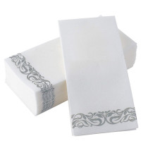 XT-XINTE 40*30CM 2 Packs Finely Printed Dust-free Soft Paper Towels Napkins Suitable for Restaurants,Hotels,Household 50 sheets/pack