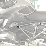 QWINOUT Motorcycle Frame Decorative Seal Cover for BMW R 1200 GS/RS