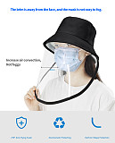 XT-XINTE Anti Droplet Spittle Dust-proof Protective Full Face Cover Detachable Masks Protective Summer Sun Outdoor Fisherman Hat Multi-function for Adult