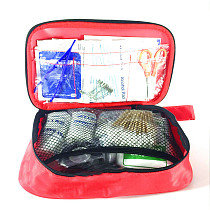 XT-XINTE 17 Items 100Pcs Emergency Survival Kit Portable First Aid Kit Treatment Pack Sport Travel Home Family Medical Bag Outdoor Car Waterproof 16*12*5cm