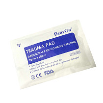 XT-XINTE 2x Sterile Abdominal- ABD Combine Pads Trauma Pad 10x20cm Individually Wrapped Wound Dressing First Aid Pads Nonstick