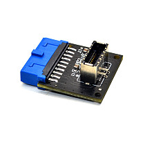 XT-XINTE Type C USB3.1 Front Panel Socket USB 3.0 19 Pin to TYPE-E 20Pin Header Extension Adapter for ASUS Motherboard PC Connector Riser