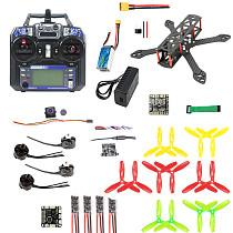 JMT 220mm DIY FPV Racing Drone Carbon Fiber Quadcopter Set with F3 FC 2300kv Motor 20A ESC 5.8G 40CH OSD VTX 700TVL PAL/NTSC FPV Camera