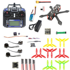 JMT 220mm DIY FPV Racing Drone Carbon Fiber Quadcopter Set with F3 FC 2300kv Motor 20A ESC 5.8G 40CH OSD VTX 700TVL PAL/NTSC FPV Camera