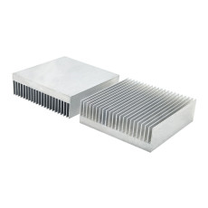 XT-XINTE 2x Radiator Cooler Heatsink Aluminum Heat Sink Cooling 60*60*18mm for LED Chip Transistor IC Module Power PBC Heat Dissipation