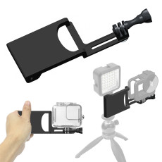 BGNing Aluminum Aloy Gimbal Splint Adapter Plate for DJI MOZA Camera Stabilizers GPRO 8 Action Camera Selfie Handle