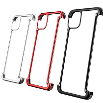 FCLUO Luxury Smartphone Case for Iphone 11 11pro Pro Max Cell Phone Case Metal Personality Shell 360 Full Protection Bumper Back Cover