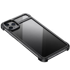 FCLUO 2020 New Metal Magnetic Adsorption Bumper Phone Case Disassembled Design for iphone 11pro for 11 Pro Max Alloy Back Cover Frame