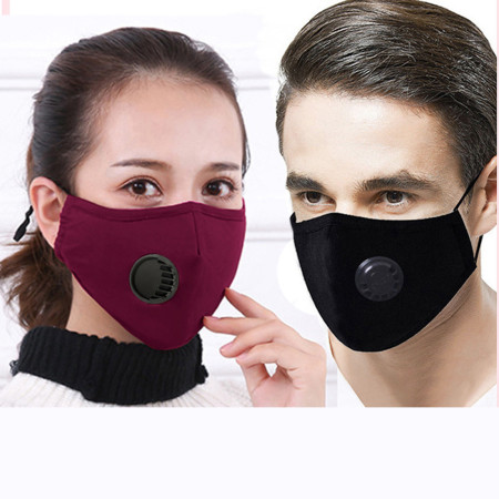 XT-XINTE PM2.5 Cotton Mask Dust-proof Anti-haze Protective Mask with Breathing Valve 5-layer Mask Plug-in Filter Masks with One Filter