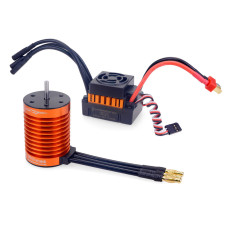 Surpass Hobby F540-V2 4370KV 9T Waterproof Brushless Motor with 60A ESC Combo Set for 1/10 RC Car Truck RC Toys Parts