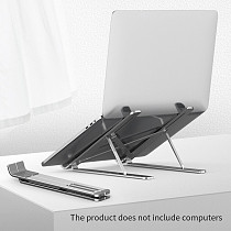 XT-XINTE Aluminum Alloy Folding Laptop Stand Cooling Adjustable Desk Stand Tablet Holder Support Office Non Slip Laptop Stand