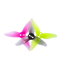 GEMFAN 4Pairs 24PCS Gemfan Hurricane 2023 2x2.3 2 Inch 3-Blade Propeller 3 Holes for 1105-1108 Motor RC Drone FPV Racing Toothpick