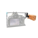 BGNING Camera Accessories Rabbit Cage Wooden Handle with Connector for Panasonic GH Camera