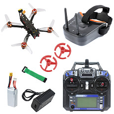 JMT F4 X1 175mm FPV Racing Drone Quadcopter RTF with FPV Goggles GHF411AIO F4 2-4S AIO Flight Controller Flysky Remote Controller