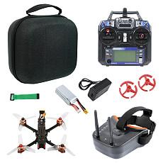 JMT F4 X1 175mm FPV Racing Drone Quadcopter RTF with FPV Goggles GHF411AIO F4 2-4S AIO Flysky Remote Controller EVA handbag