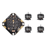 BETAFPV 1105 5000KV 4S 4PCS Brushless Motors with Toothpick F4 2-4S AIO Brushless Flight Controller BLHELI_S 12A ESC for FPV Racing Drone