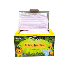 XT-XINTE 50PCS Disposable Mask 3-layer Children's Mask Cartoon Melt-blown Dustproof Protective Breathable Mask