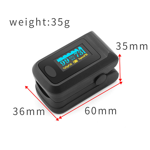 XT-XINTE 60R Portable Household Finger Clip OLED Blood Oxygen Saturation Detector Personal Care Electrical Pulse Data Meter