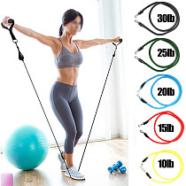 XT-XINTE 11pcs Resistance Bands Set Rubber Tubes Band Stretch Training Rally Rope Fitness Sports Equipment Household Chest Expander