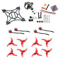 JMT DIY FPV Racing Drone Accessory Kit 100mm Frame Kit Supra-F4-12A Flight Controller 1103 7000kv Motors Canopy 2.5inch Props