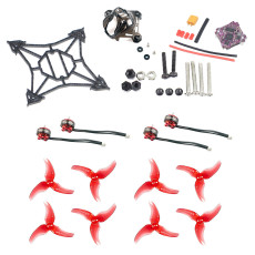 JMT DIY FPV Racing Drone Accessory Kit 100mm Frame Kit Supra-F4-12A Flight Controller 1103 7000kv Motors Canopy 2.5inch Props