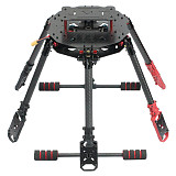 JMT Saker675 675mm 6-axis Carbon Fiber Folding Rack DIY RC Drone Hexacopter Frame Kit with Landing skid Motor Mount