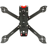 QWinOut three225 225mm Carbon Fiber FPV Racing Drone Frame Kit with 3D printing TPU Camera mount for 19mm camera for DIY RC Drone Aircraft
