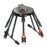 JMT Saker610 610mm 6-axis Carbon Fiber Frame Kit DIY RC Drone Hexacopter Folding Rack with Landing Gear Motor Mount