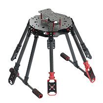 JMT Saker610 610mm 6-axis Carbon Fiber Frame Kit DIY RC Drone Hexacopter Folding Rack with Landing Gear Motor Mount