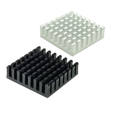 XT-XINTE 10Pcs 28*28*8mm Aluminum Heatsink Radiator Cooling Cooler Heat Sink for Electronic Chip IC LED Computer for Wholesale