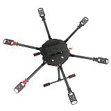 JMT Saker675 675mm 6-axis Carbon Fiber Folding Rack DIY RC Drone Hexacopter Frame Kit with Landing skid Motor Mount