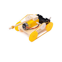 Feichao DIY Handmade Assemble Wooden Car Tank Kit Science Model Experiment Invention Puzzle Material Children's Education Toy Gift for STEM