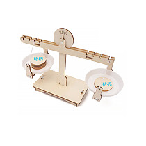 FEICHAO Wooden Balance Scale Model Kit For Children Funny DIY Assembled Physics Mathematics Learning Educational Toy Gift for Stem Students Kids Boys