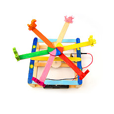 FEICHAO Physics Electrical Teaching Circuits Carousel Model DIY Kits Toys Assembly Wood Development Children Educational Experiment for STEM