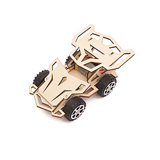 FEICHAO DIY Electric Racing Car 4WD Assembled Model Kit Creative Wooden Painted Color Physic Science Kids Gift Graffiti Educational Toys
